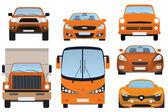 Kolekcja samochodów (widok z przodu) — Wektor stockowy
