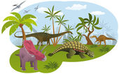 World of dinosaurs — Stock Vector