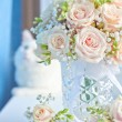 Wedding bouquet of the bride — Stock Photo