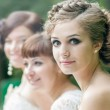 Bride with her friends — Stock Photo