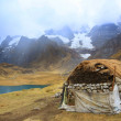 Peruvian village in Cordiliera Huayhuash — Stock Photo #25646635