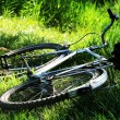 Old vintage bicycle on the grass - shallow DOF — Stock Photo
