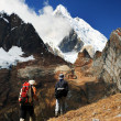 Trekking in Cordiliera Huayhuash — Stock Photo