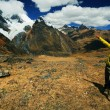 Trekking in CordilierHuayhuash — Stock Photo #25695321