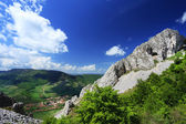 Aerial view of Rametea Village, Transylvania, Romania, Europe — Stockfoto