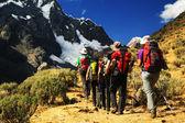 Trekking in Cordiliera Huayhuash — Stock Photo