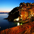 Riomaggiore Village, Cinque Terre, Italy - Stock Photo