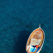 Lonely boat on the ocean — Stock Photo
