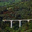 Motorway bridge on the Ligurian Coast — Stock Photo