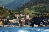 Cinque terre ligurian kıyısında, i̇talya, avrupa — Stok fotoğraf