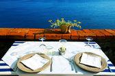 Seaside table — Stock Photo