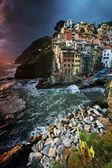 Riomaggiore köyü, cinque terre, i̇talya — Stok fotoğraf