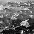 Austrian alps seen from the plane — Stock Photo