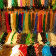 Indian beads in local market in Pushkar. Rajasthan, India, Asia — Stock Photo