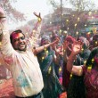 Covered in paint on Holi festival — Stock Photo