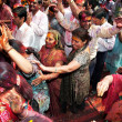 Covered in paint on Holi festival — ストック写真