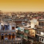 Aerial view of New Delhi, india, Asia — Stock Photo