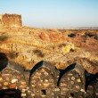 Defending walls of Jodhpur City, Rajasthan India — Foto de Stock