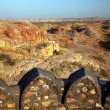 Defending walls of Jodhpur City, Rajasthan India — 图库照片