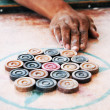 carrom traditional indian game — Stock Photo #25815149