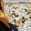 "Jodhpur the ""Blue city"" in Rajasthan, India - view from the Mehrangarh Fort — Zdjęcie stockowe"