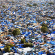 "Jodhpur the ""Blue city"" in Rajasthan, India - view from the Mehrangarh Fort - Foto de Stock"