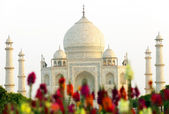 White marble Taj Mahal in India, Agra, Uttar Pradesh — Stock Photo