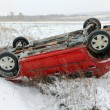 Car accident in winter conditions — Stock Photo #25825003