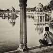 Stockfoto: Gadisagar lake, Jaisalmer, India