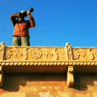 Stock Photo: Photographer in Jaisalmer, Rajasthan, India