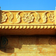 Stock Photo: Architectural detail of Mandir Palace Museum, Jaisalmer, India, Asia