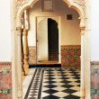 Stock Photo: Architectural detail of Mandir Palace, Jaisalmer, India, Asia