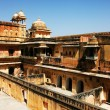 Stock Photo: Architectural detail of Amber Fort in Jaipur, Rajasthan, India