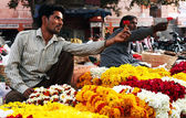 Flower market of India — Stock Photo