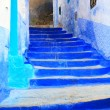 Architectural detail in Chefchaouen old Medina, Morocco — Foto Stock