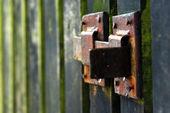 Old vintage metal locker — Stock Photo