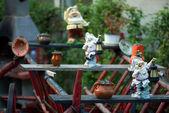 Garden gnomes — Stock Photo