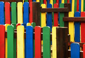Abstract image of a colorful fence — Stock Photo