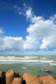 Oceano Atlântico em asilah, Marrocos, África — Fotografia Stock