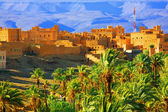 Village in Morocco, northern Africa — Stock Photo