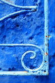 Abstract architectural detail in Chefchaouen, Morocco, Africa — Stock Photo