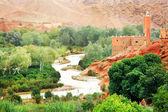 Kasbah marroquina no vale de dades, áfrica — Fotografia Stock
