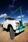 Car in the desert — Stock Photo