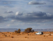 Carro no deserto — Foto Stock
