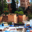 Stock Photo: Architectural detail of Chefchaouen, Morocco, Africa