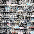 Stock Photo: Lots of sneaker shoes