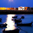 Sunset light in Asilah Harbor, Morocco, Africa — Stock Photo