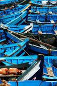 Blue fishing boats in Essaouira, Morocco, Africa — Stock Photo