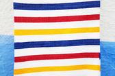 Striped towel texture — Stock Photo
