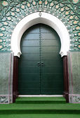 Traditional moroccan door in Tangier, Africa — Stock Photo